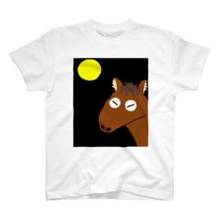 月下のチビタ T-shirts