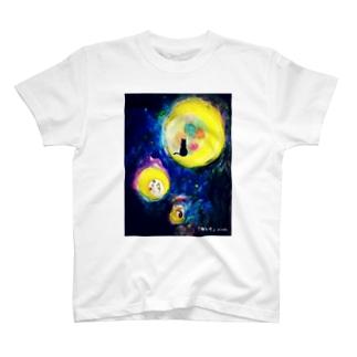 海と月 T-shirts