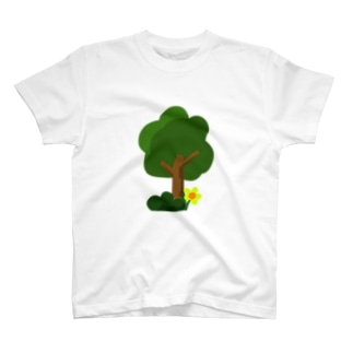 木と幸せ T-shirts