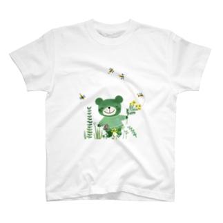 緑のくまさん T-shirts