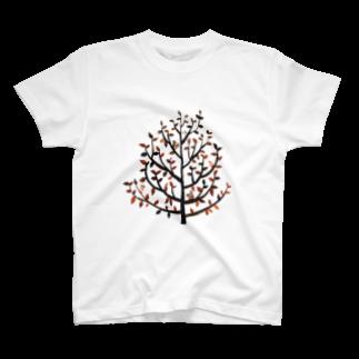 黒宮 望美の葉っぱと木 T-shirts