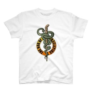 アスクレピオスの杖 T-shirts