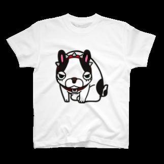 studio tama,syuのBurita the frenchbulldog T-shirts