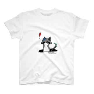 北欧ひげネコ 新しい発見 T-shirts