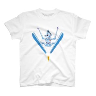 スキーロボ大開脚 T-shirts