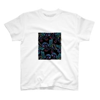 ポニーいっぱい(ブラック) T-shirts