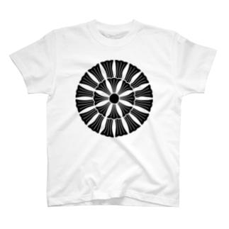 家紋 十六割寓生花 T-shirts