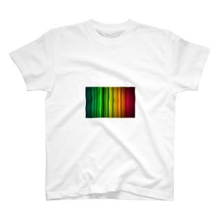 レインボーストライプ T-shirts