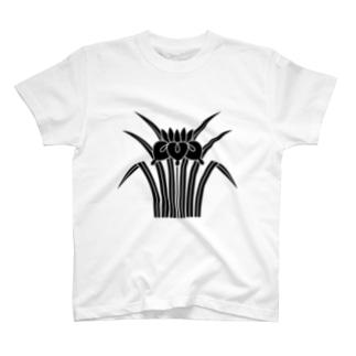家紋 立ち杜若 T-shirts