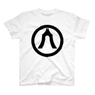 家紋 丸に琴柱 T-shirts