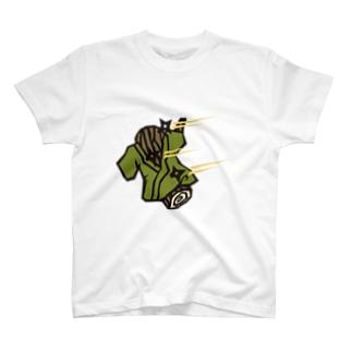 猿侍の変わり身の術 T-shirts