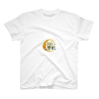 不苦労親子とおつきさま T-shirts