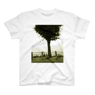 樹下の青年と少女 T-shirts