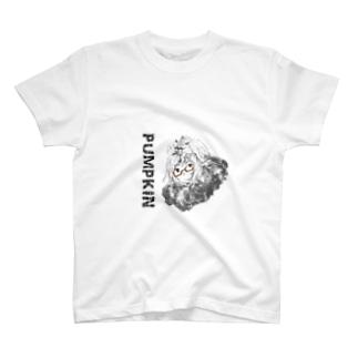 眼鏡のかぼちゃん(フード) T-shirts
