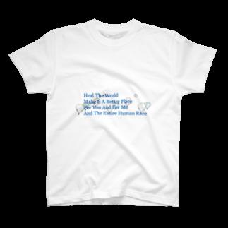 山本♂△のHeal the World (Blue) T-shirts