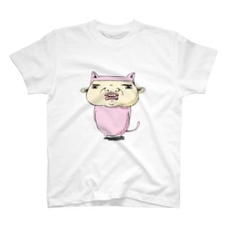 威嚇するネコさん T-shirts