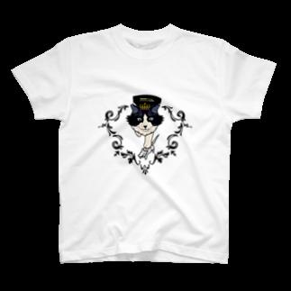 関野絡繰堂の猫王 T-shirts
