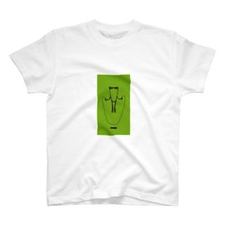 かえるとび_green T-shirts