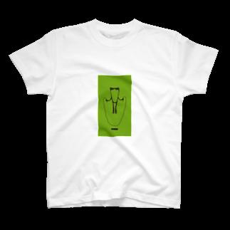 nugotaroのかえるとび_green T-shirts
