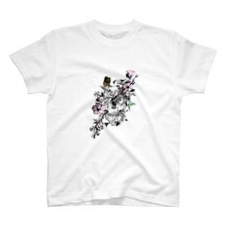 髑髏と花 T-shirts