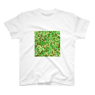 レオナのCamouflage(Cat's Footmark) T-shirts