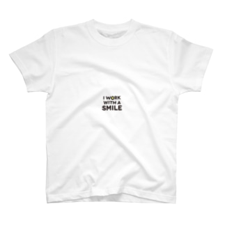 I work with a smile T-shirts