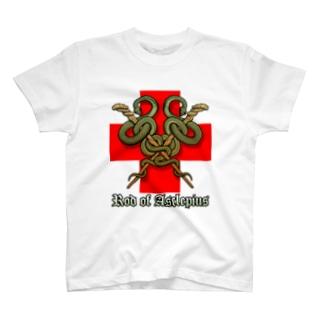 アスクレピオスの杖(X) T-shirts