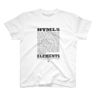 HTML5 プリント T-shirts