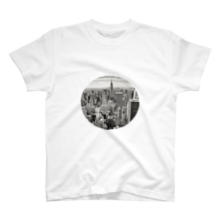 anywhere door on the stomach T-shirts