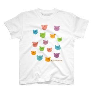 カラフルウゲロくま(ランダム) T-shirts