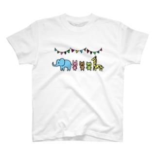 らくがきシリーズ『らくがきサーカス』カラー T-shirts