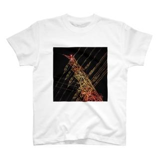 夜の鉄塔 T-shirts