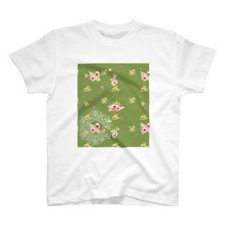 flower ドイリー T-shirts