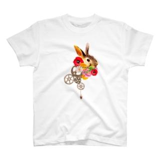 ウサギと歯車 T-shirts