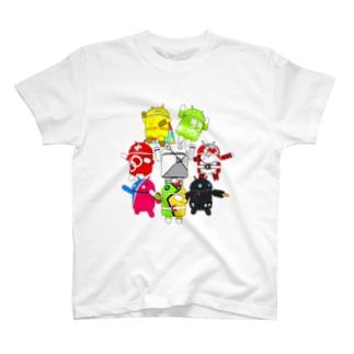 ドロイド君ヒーローズ T-shirts