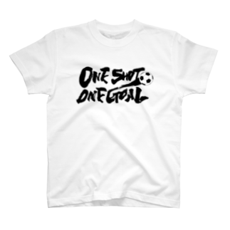 burnworks designのOne Shot One Goal Tシャツ