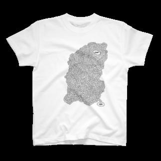 burnworks designの迷路 Tシャツ