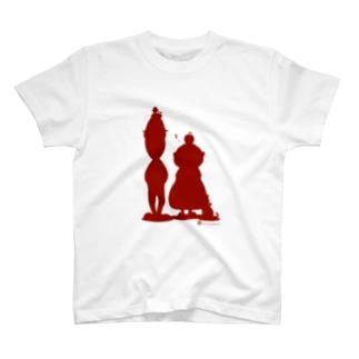 リンゴン一家(シルエット) T-shirts
