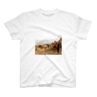 旅先の馬 T-shirts