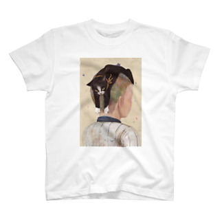 YONEKURA JUNEの港で噂のネコヘアー(高校野球男児の場合) T-shirts