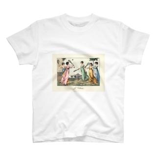 バトミントンで遊ぶレディ達 T-shirts
