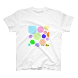 ドット柄Tシャツ T-shirts