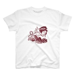 ろくろくび T-shirts