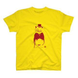 ネコスキー1世(シルエット) T-shirts