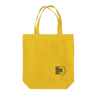 MY MIND SAYS NO. Tote bags
