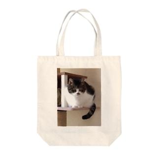 ねこタワーのうちの子 Tote bags