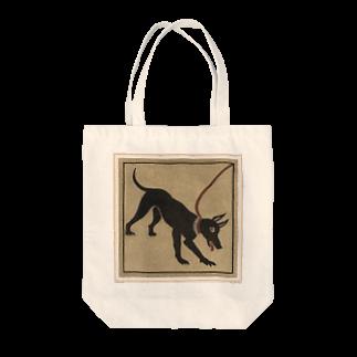 J. Jeffery Print Galleryのポンペイの番犬 Tote bags