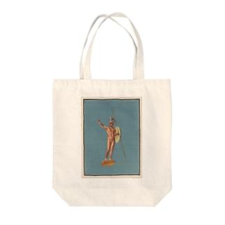 ポンペイ遺跡 裸の戦士 Tote bags