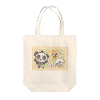 パンダ+歌舞伎 Tote bags
