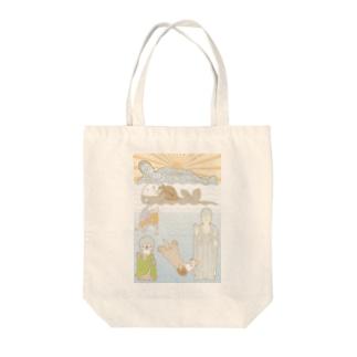 ラッコ+仏像 Tote bags